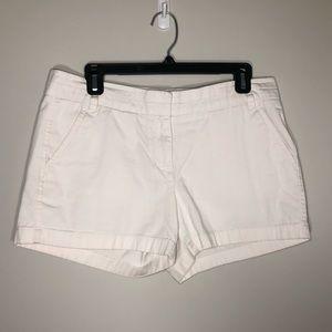 JCrew 3inch White Chino Shorts